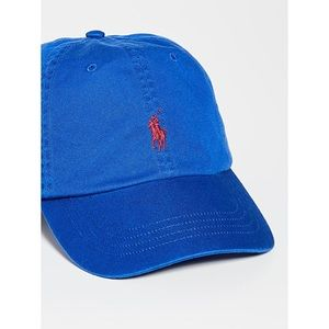 Polo Ralph Lauren Classic Blue Cap Red Pony Logo